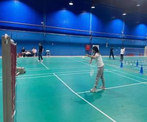 公司举办羽毛球比赛